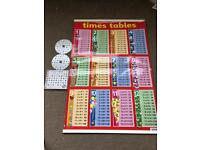 Times tables CD and chart - helps kids with learning times tables- £5