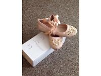 TOPSHOP BEJEWELLED BALLERINA STYLE SHOES