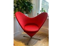 Danish design heart shaped accent chair