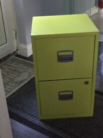 Light green 2 draw filing cabinet in great condition