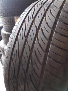 4 pneus d'été 265/60R18 Toyo Versado GUV. 60% d'usure, mesure 5/32.