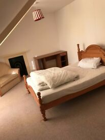 Large double ensuite room with adjoining private living space to rent in professional house share