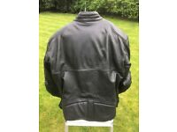 Weise Classic Leather Motorcycle Jacket (Black) - as new, worn once.