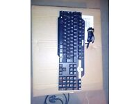 Genuine Dell USB keyboard multimedia black desktop pc SK-8135(uk)querty