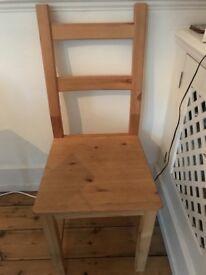 Ikea wooden chair