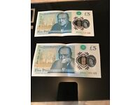 New plastic 5 pound note