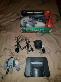 Nintendo 64 with box and 1 game