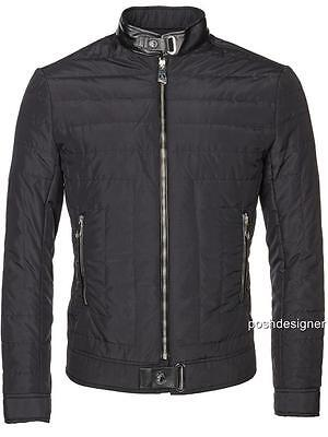 VERSACE Collection Black Padded Jacket Coat IT58 xXXL, RRP895GBP