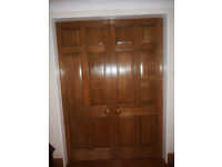 Pair of solid oak sliding doors