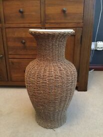 Laura Ashley wicker freestanding vase