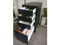 Ikea Micke office drawers storage with suspension drop files