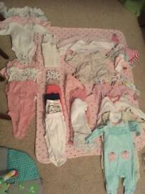 0-3 months baby girl bundle
