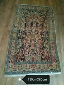 very old wool persian carpet