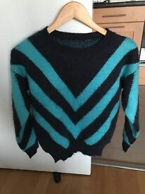 Beautiful Sweater in Blue and Black colour, Excellent top Quality Used only 1 time, Women Fashion