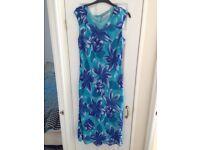Kaleidoscope Blue Floral Maxi Dress - size 18