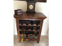 Indiana style wine rack