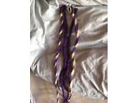 Purple and blonde dreads