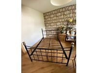 Double bed frame metal