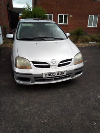 nissan almera tino 6 months mot new tyres all round reliable car for sale