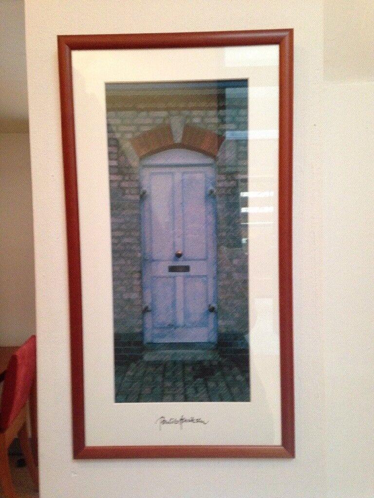 Framed picture of door