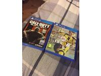 FIFA 17 and black ops 3