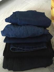 Five pairs of jeans size 18