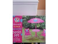 childrens 4 piece patio set brand new
