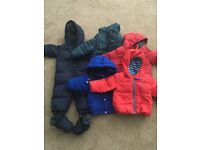 Selection of boys baby jackets/ snowsuit. Range 6-18m. £40