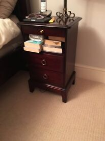 Stag minstrel pair of tall and narrow bedside cabinets