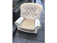 Button back armchair - free local delivery