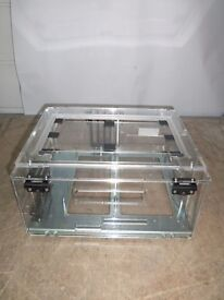 VERY RARE MODDERS GAMERS ACRYLIC PERSPEX PC CASE - ONLY £50 - IN EXCELLENT CONDITION