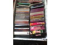Box of various cds