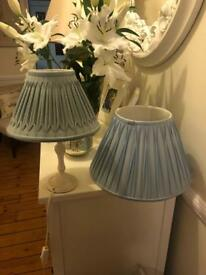 Laura Ashley Duck Egg Blue Lamp & Lampshade Duo