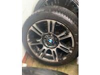 """Bmw genuine alloys good tyres 17"""""""