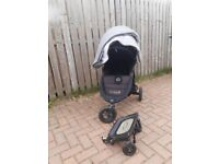 FREE BABY JOGGER CITY MINI GT, FOOTMUFF AND GLIDERBOARD