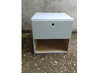 Pale Blue painted bed side table - DELIVERY AVAILABLE