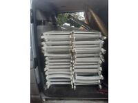 44 x White wooden folding chairs