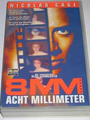 Acht Millimeter - 8 mm - VHS/Thriller/Nicolas Cage/Joaquin Phoenix/FSK 18 8 Mm, Vhs