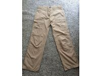 MUSTO womans sailing trousers size 14 L worn once mint condition !
