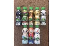 Volvic Star Wars and frozen bottle sets