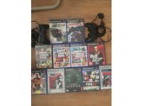 PS2 game bundle and 2 controllers