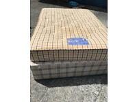 Double bed with quality mattress