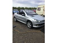 2004 Peugeot 206 convertible 1600 cc manual full service history electric roof lonly 68000 miles