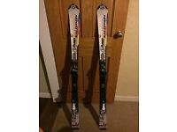 Salomon skis with bindings 140 cms
