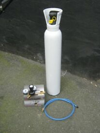 Full 10 Litre CO2 Mig Welding Gas Bottle With New Regulator and Reducer Gas Pipe