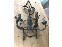 French style ornate metal wall lights