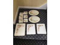Vintage Marks & Spencer table mats - Harvest design