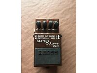BOSS OC-3 Super Octave Pedal. polyphonic octave shifting for Phat simple chords!!