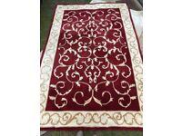 Asiatic Paris Red 100% Wool Pile Rug, Hand Tufted 270cm x 180cm