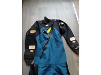 Small Otter Dry Suit and Hose, new neck and wrist seals, good condition, boot size 5